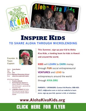 Click to download our flyer - Aloha Kiva Kids